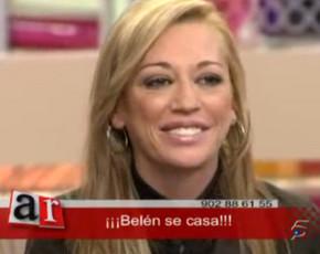 Belen Esteban se casa con su novio Fran y anuncia su boda en directo