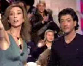 Espectáculo dantesco entre Nicky y David (Judd) en 'El ventilador' de Telecinco con intervención de los guardias de seguridad