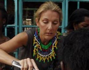 Celine Dion voluntaria en África